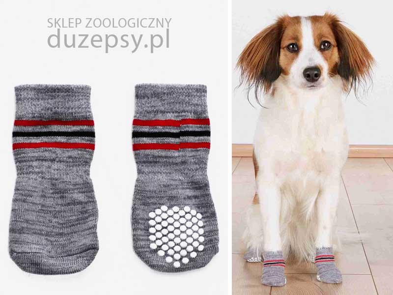 skarpetki antypoślizgowe dla psa; skarpetki dla psów; skarpetki ochronne dla psa; skarpetki dla dużego psa; odzież dla psów; ubranka dla psów; sklep zoologiczny online; DuzePsy.pl
